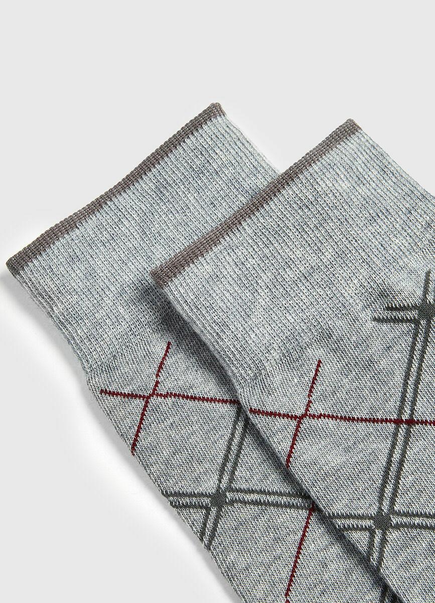 Классические носки с жаккардом «ромбы»