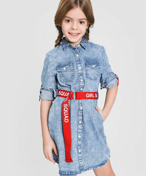 Джинсовое платье платье рубашка la redoute джинсовое с поясом m синий
