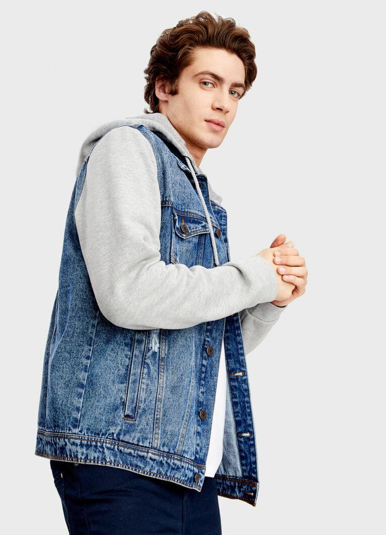 Куртка с капюшоном из денима