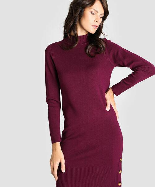 Фото - Вязаное платье с воротником-стойкой фото