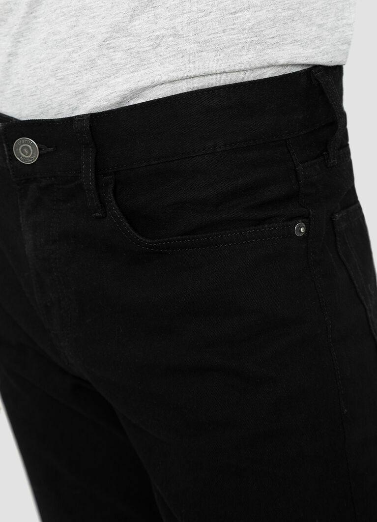 Прямые черные джинсы