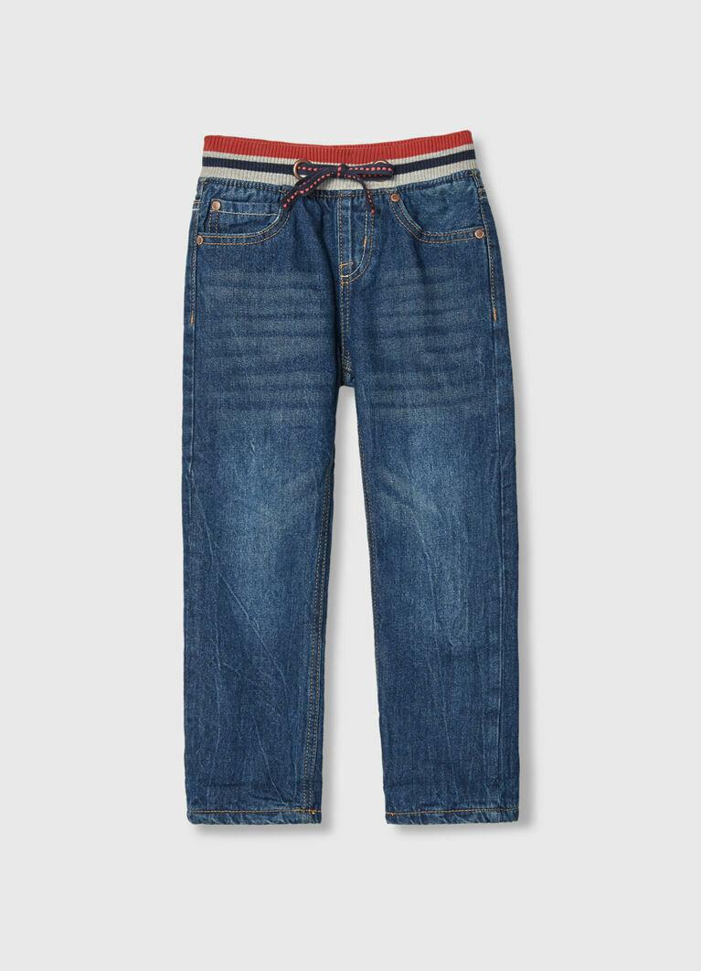 Утеплённые джинсы на флисовой подкладке для мальчиков