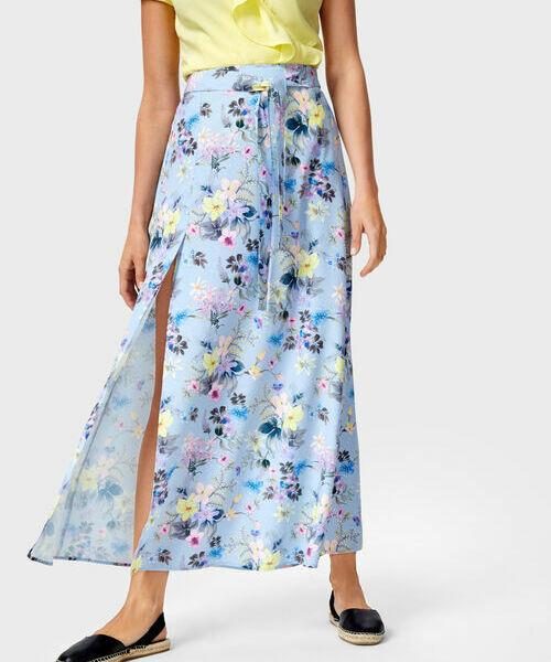 Юбка макси в цветочный принт ostin юбка в тропический принт