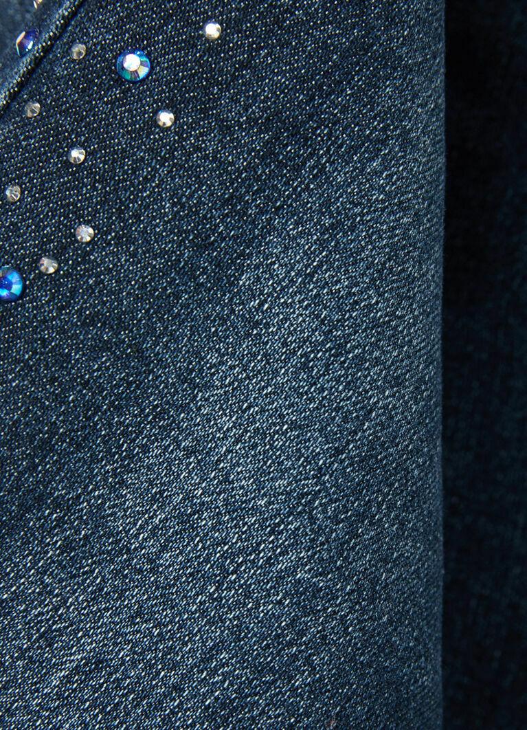 Утеплённые джинсы на флисовой подкладке для девочек