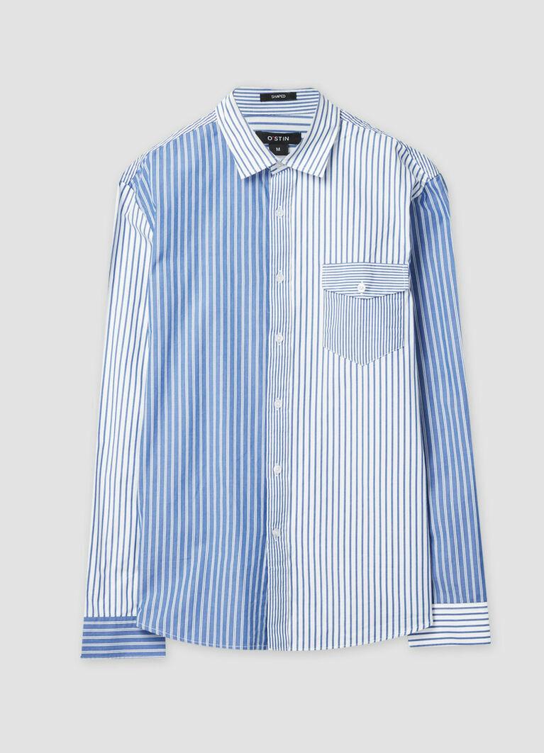 Рубашка в комбинированную клетку