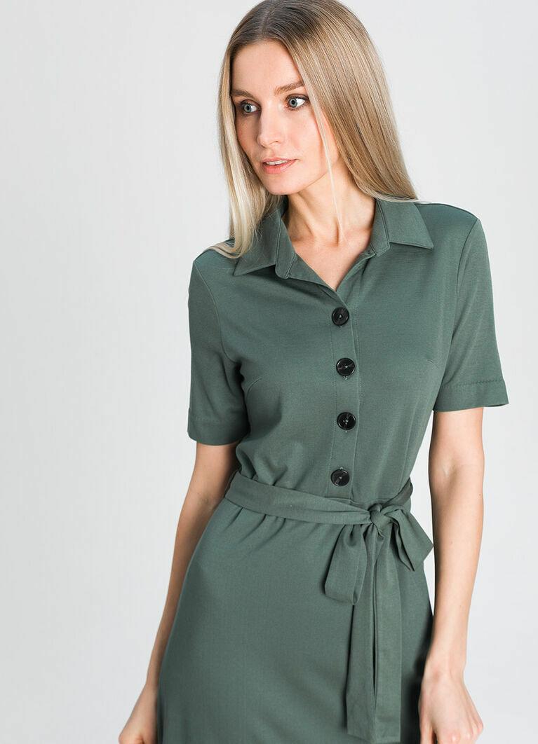 Кроёное платье-рубашка
