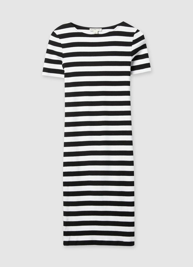 Платье-труба в полоску