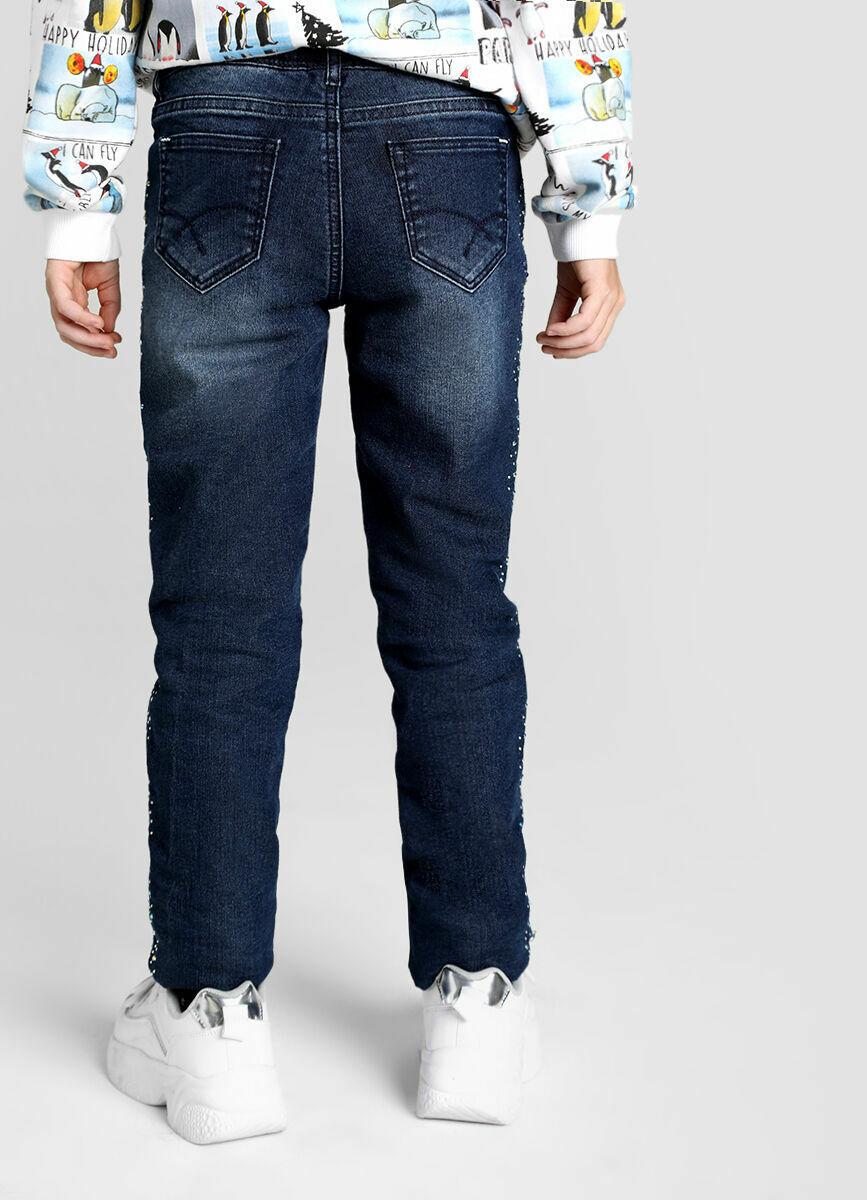 Утеплённые джинсы на флисовой подкладке