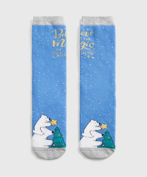 Махровые носки с жаккардом «медведи» цена 2017