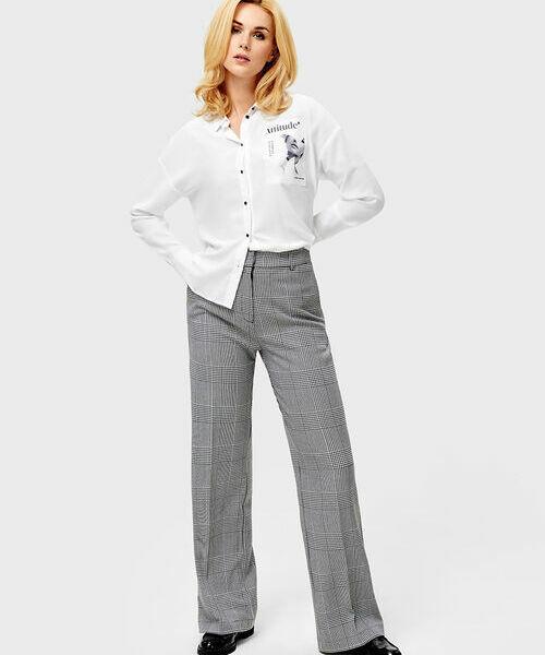 Широкие брюки в клетку брюки мадам т брюки широкие