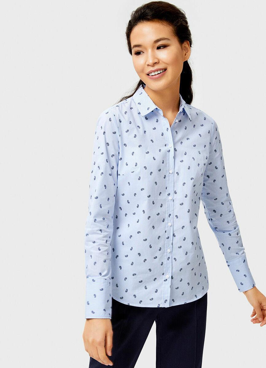 Офисная рубашка с контрастной планкой