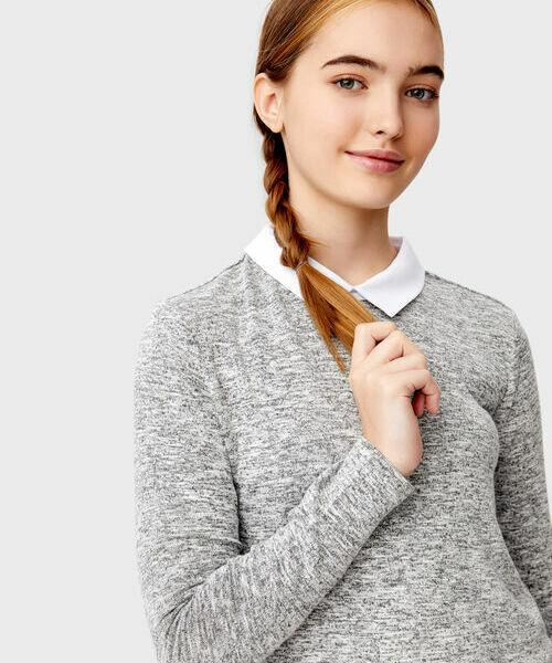 цена Джемпер с имитацией рубашки онлайн в 2017 году