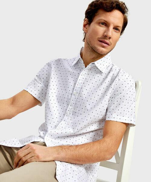 Купить со скидкой Рубашка из принтованного из хлопка