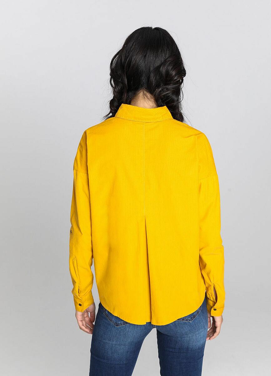 Вельветовая рубашка свободного силуэта