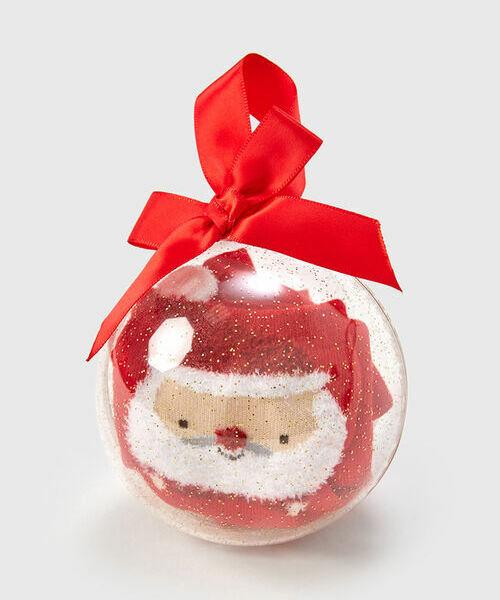 Носки с жаккардом «Санта в шаре»