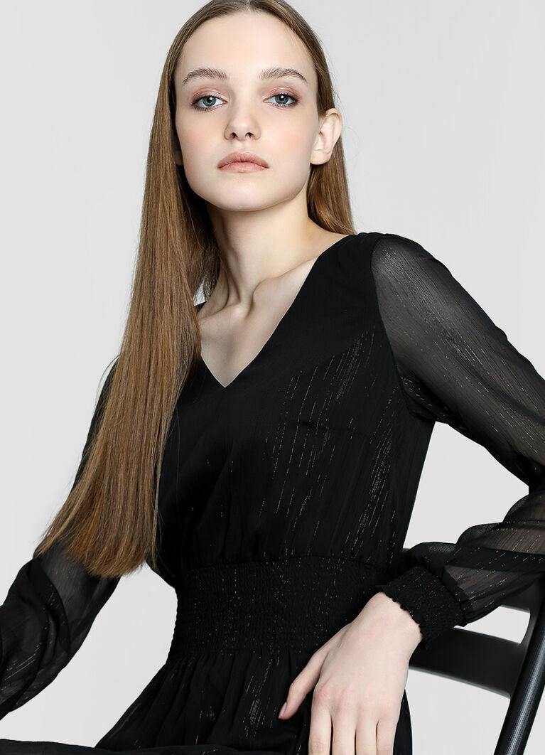 Шифоновое платье с люрексом