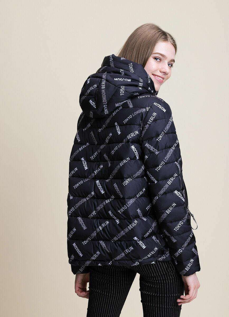 Ультралёгкая куртка с текстовым принтом