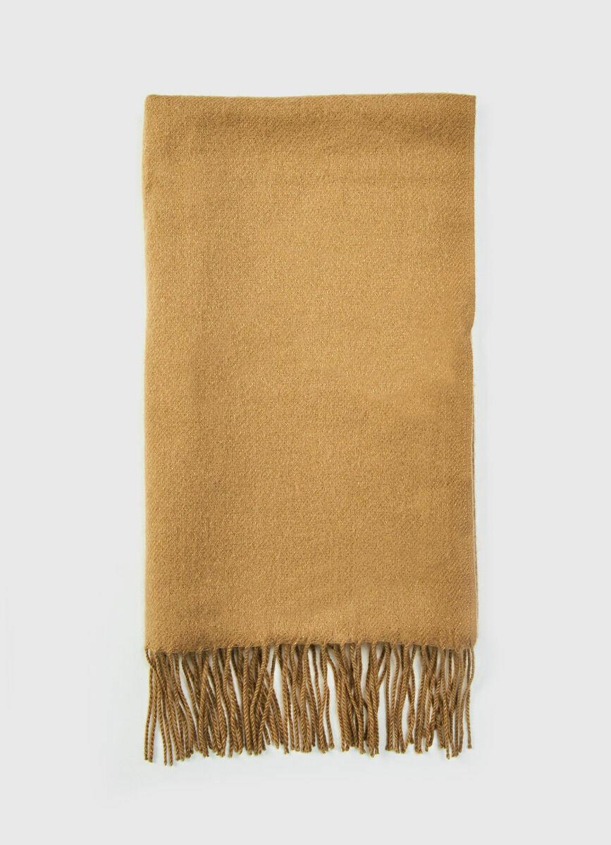 Однотонный шарф с люрексом