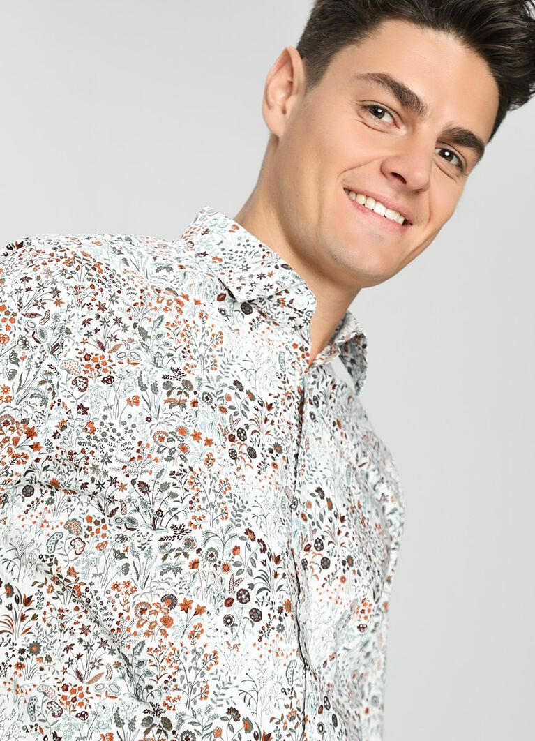 Рубашка c цветочным принтом