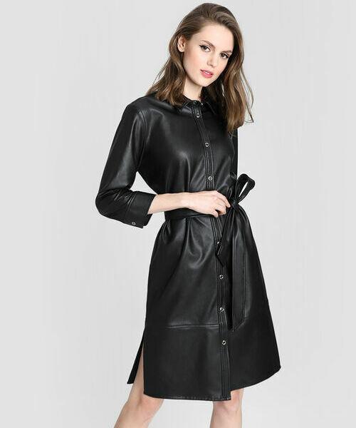 Фото - Платье-рубашка из искусственной кожи рубашка greg greg mp002xm05sgb