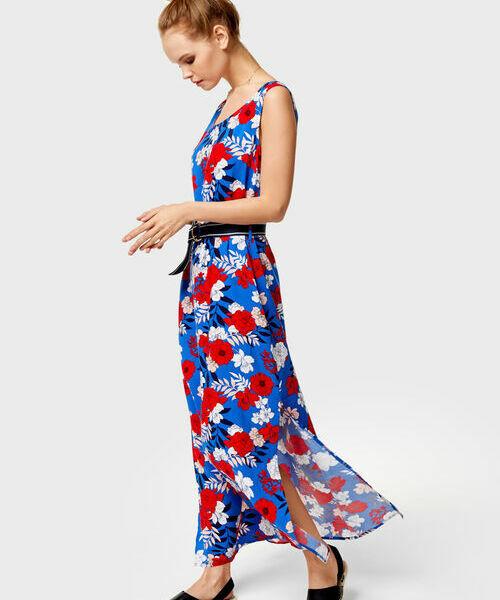 Платье макси без рукавов