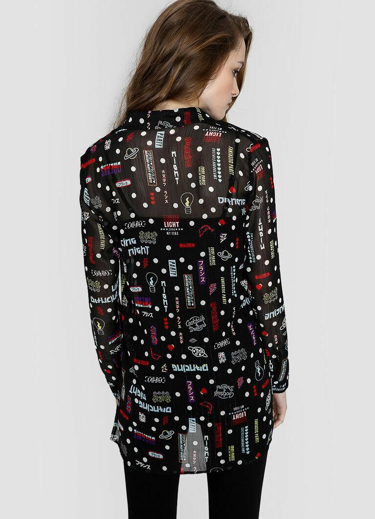 Шифоновая принтованная блузка