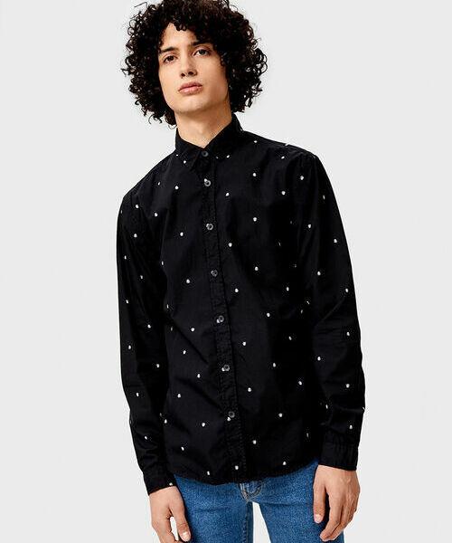 цены Хлопковая рубашка с принтом