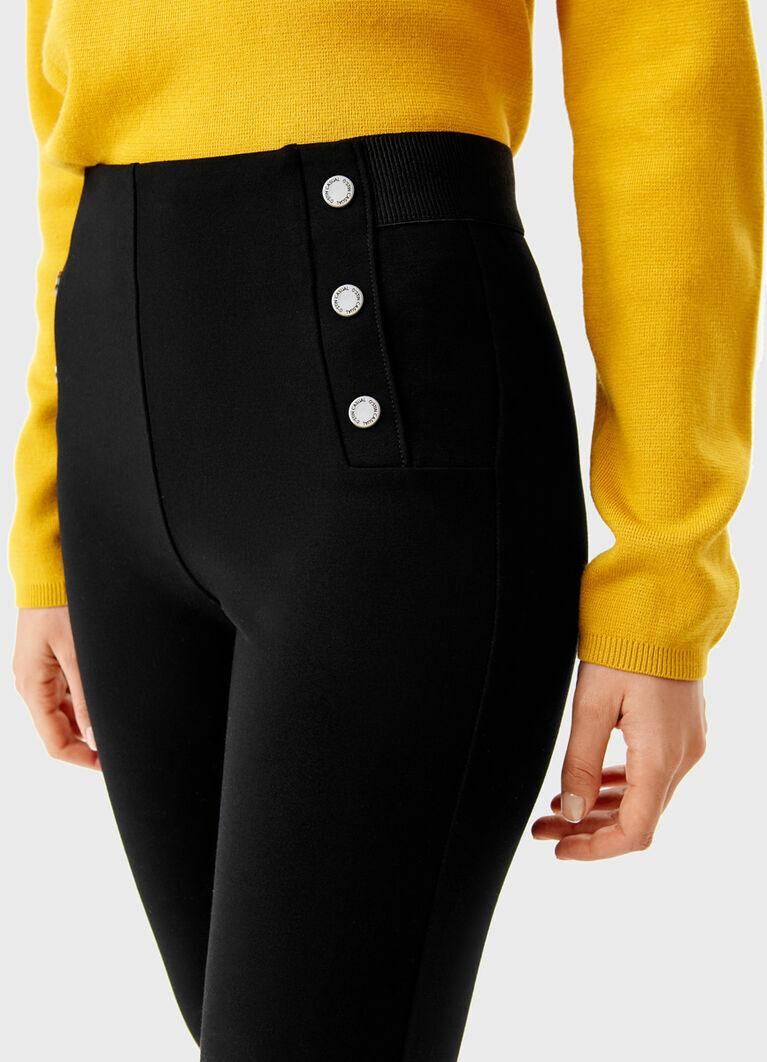 Трикотажные брюки с пуговицами