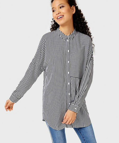 Вискозная рубашка в полоску все цены