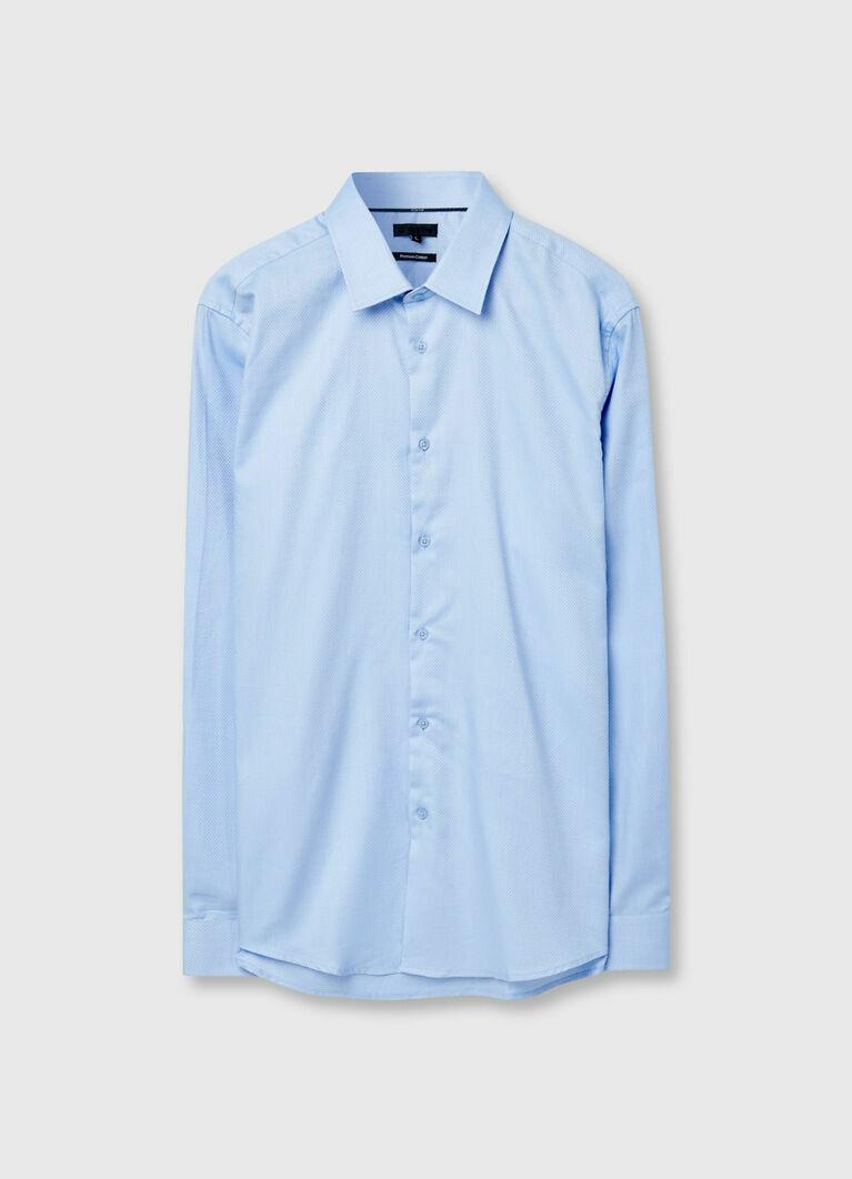 Рубашка с микрожаккардом