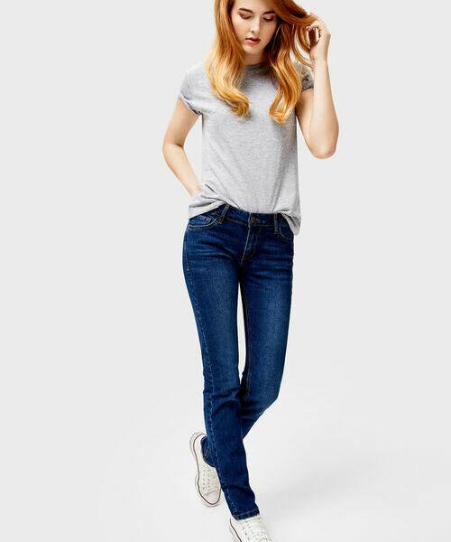 Базовые узкие джинсы стеллажи черные узкие