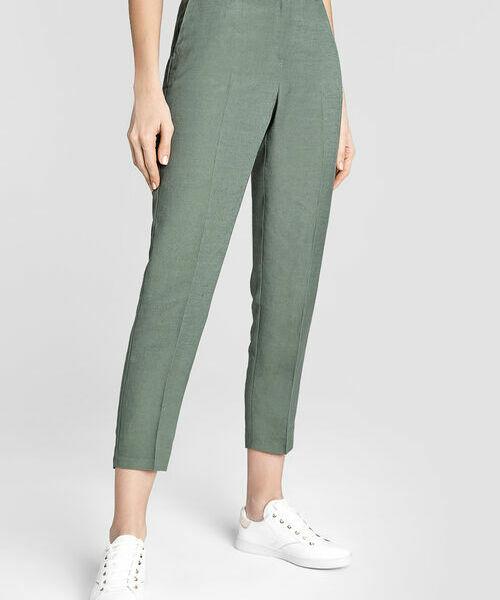 Зауженные брюки изо льна полотенцедержатель двойной 65 5 см bemeta retro 144204058