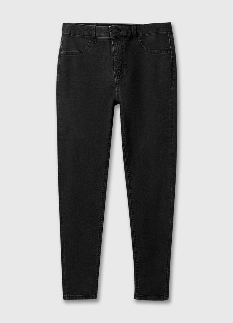 Зауженные чёрные джинсы