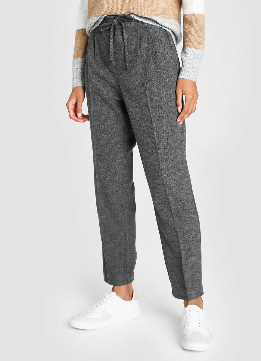 Утеплённые брюки свободного силуэта