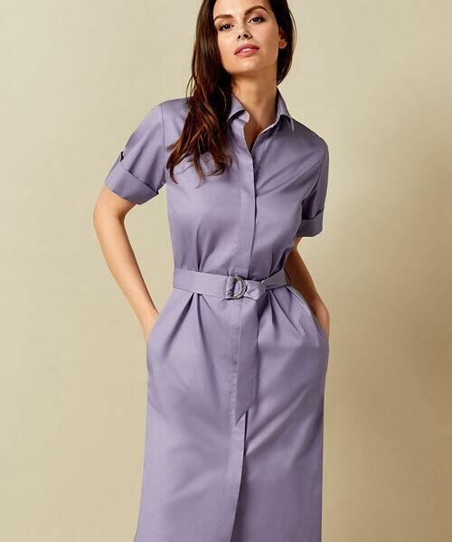 Фото - Платье-рубашка из хлопка-пима фото