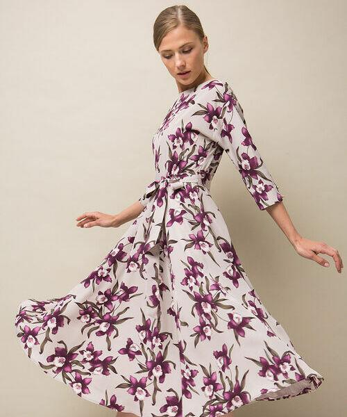 Фото - Платье А-силуэта из крепа фото