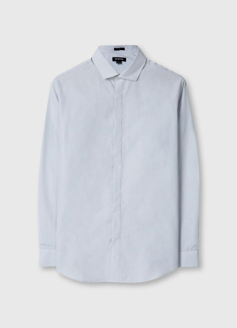 Рубашка из структурной ткани с микрорисунком