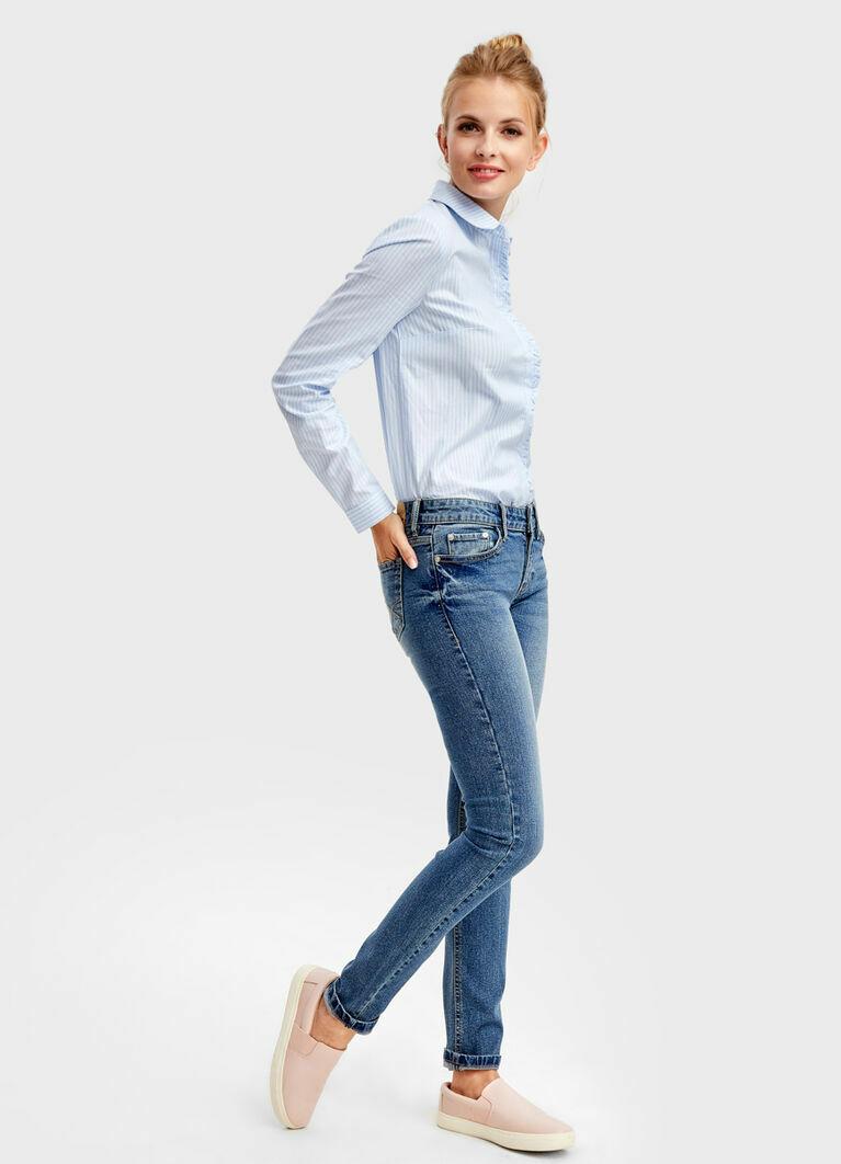 Узкие джинсы с винтажной стиркой