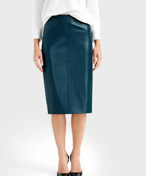 Юбка из искусственной кожи юбка расклешенная из искусственной кожи