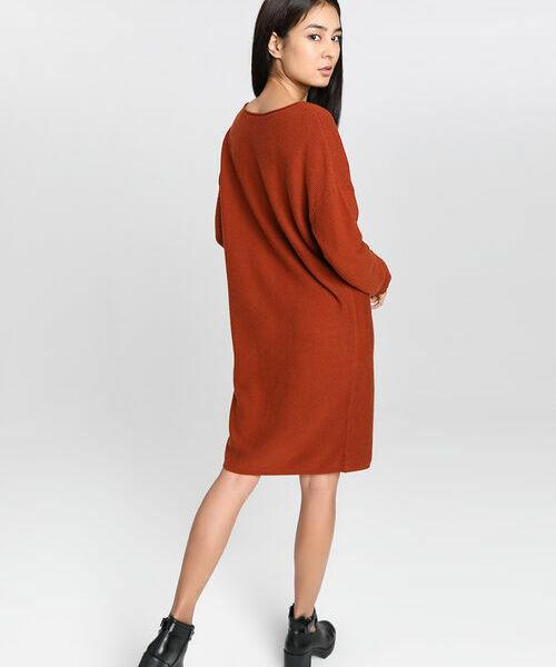 Купить со скидкой Структурное трикотажное платье