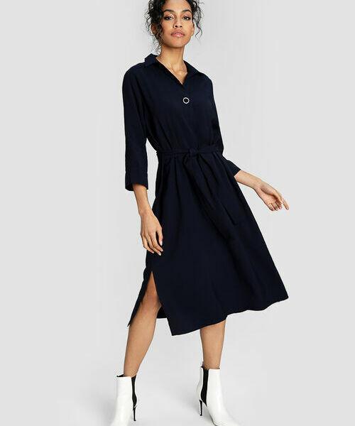 Платье-туника из структурной вискозы с кнопкой на планке платье туника piamente платья и сарафаны мини короткие