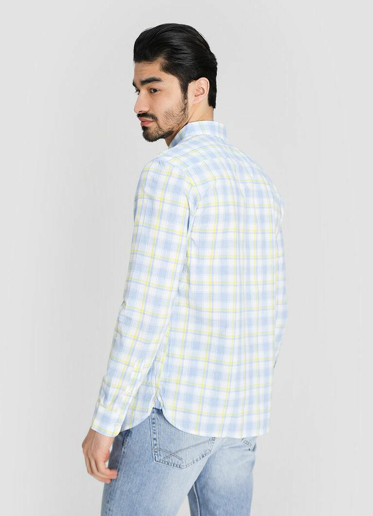 Рубашка в платочную клетку