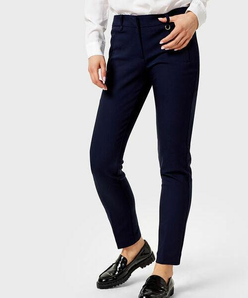 Хлопковые узкие брюки с эластаном