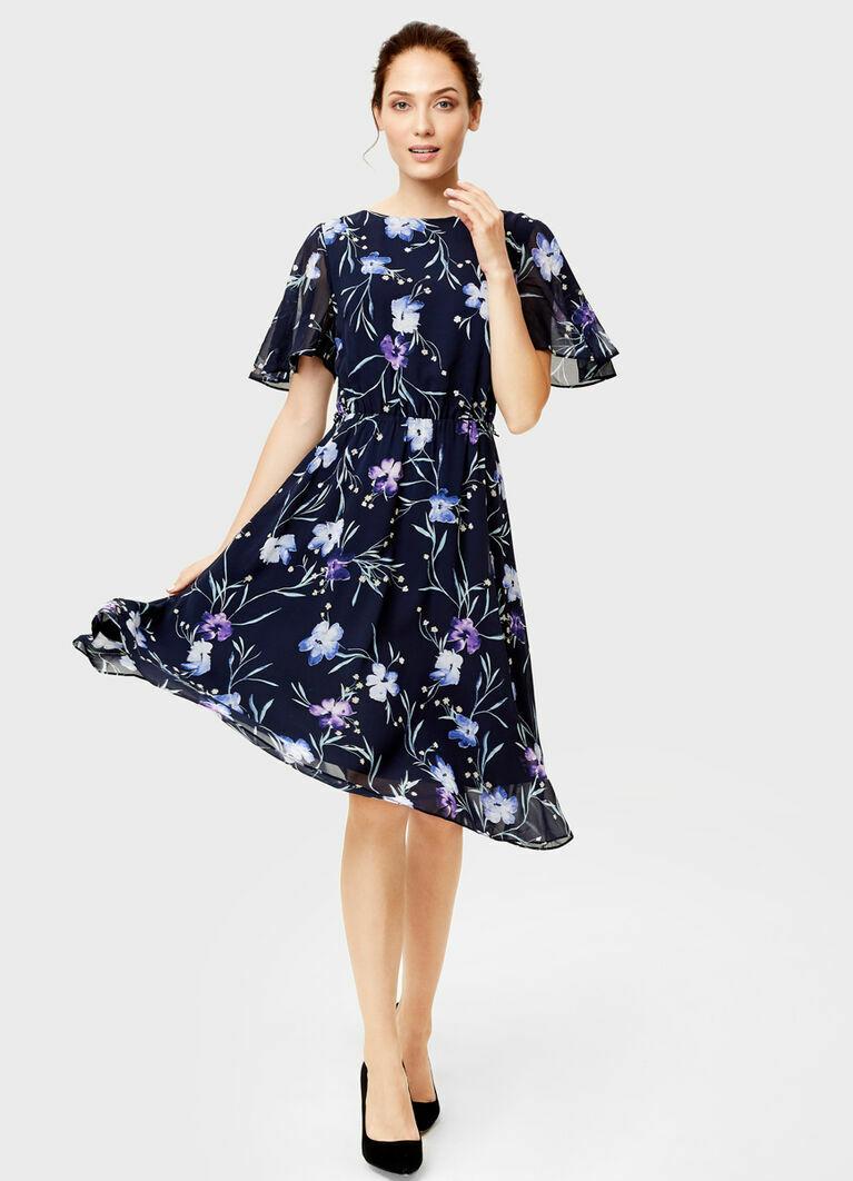Платье из принтованного шифона
