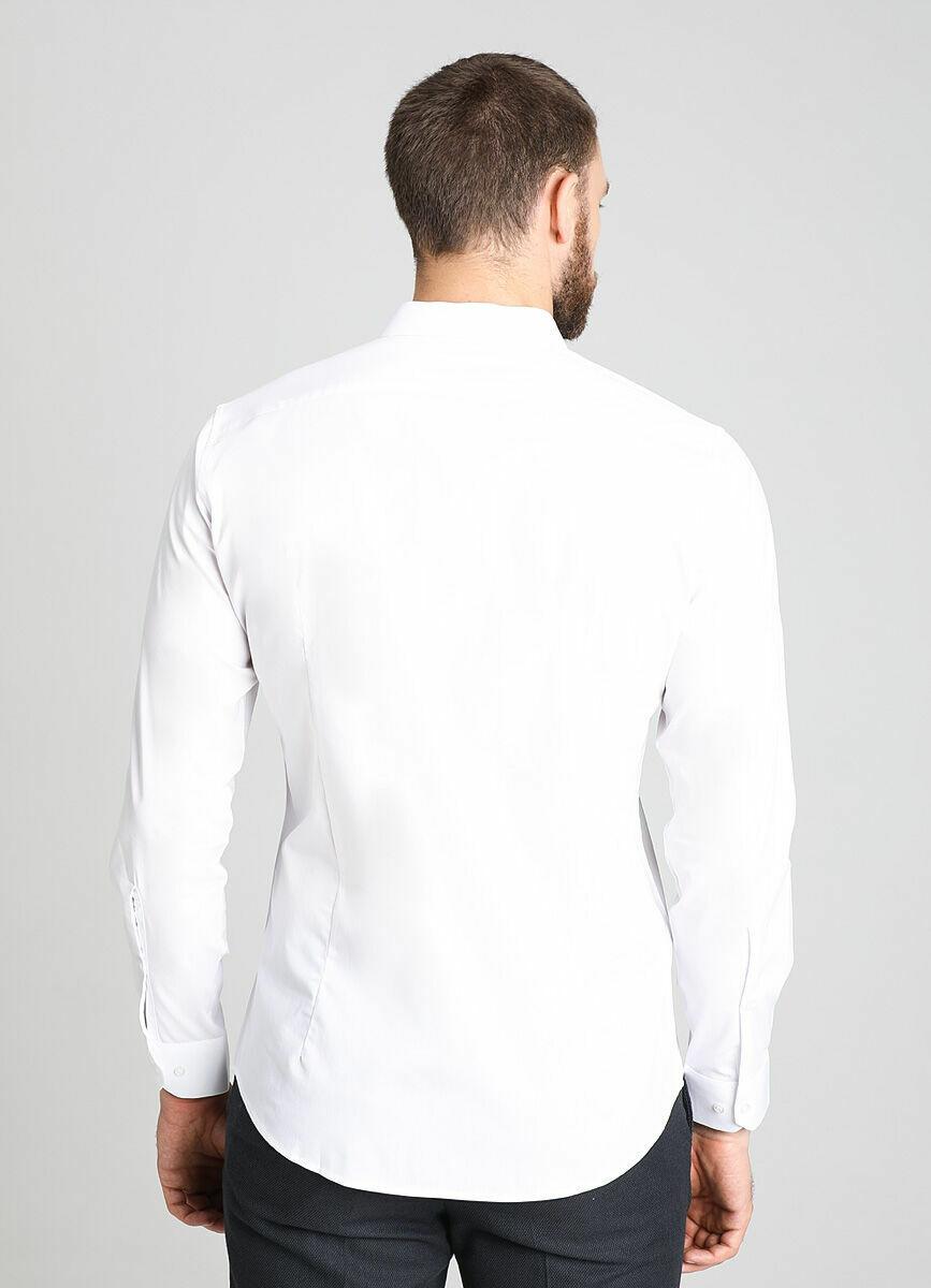Однотонная рубашка из ткани с эластаном