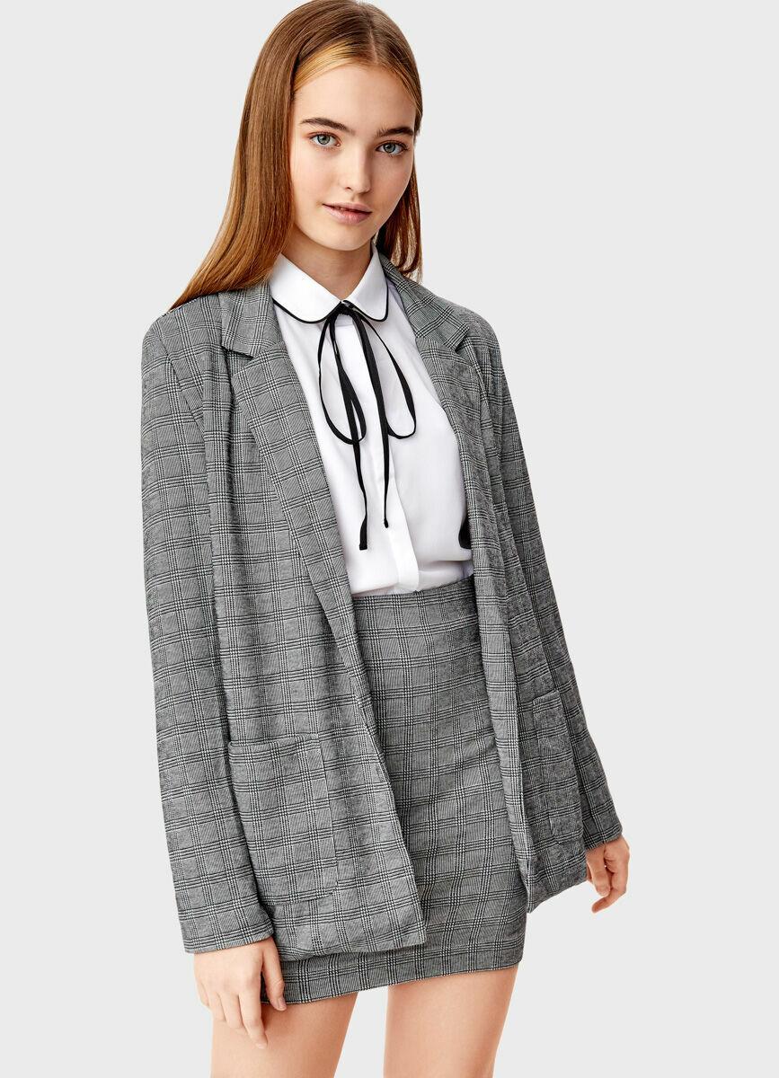 Трикотажный объёмный пиджак