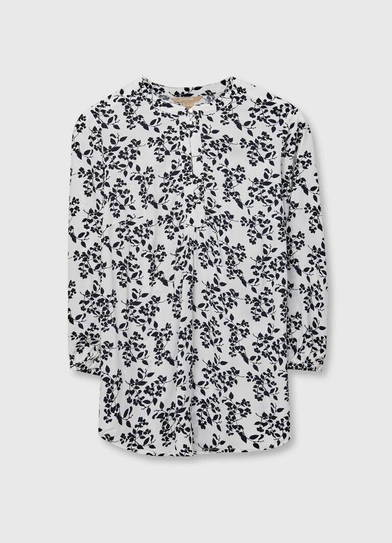 Блузка с растительным принтом