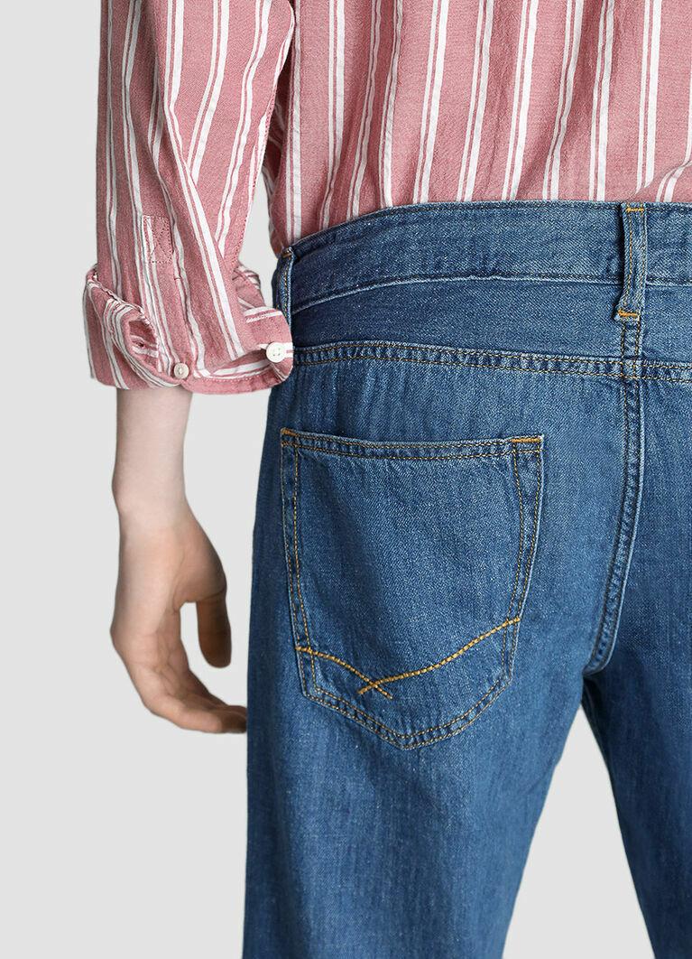 Зауженные джинсы изо льна