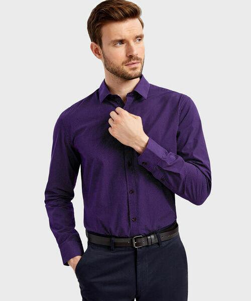 Фото - Рубашка с принтом в мелкий горошек фото