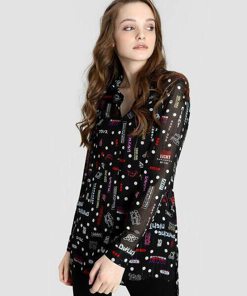 Шифоновая принтованная блузка шифоновая блузка в цветочный принт